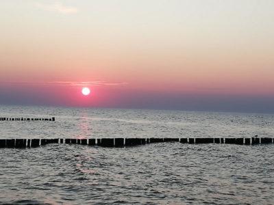 Ostsee-sonnenuntergang